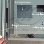 Смотровое окошко. доступ к выключателям, замок + 2 ключа, шпильки заземления