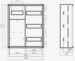 Схема распределительного щитка ЩРН-3-30+8
